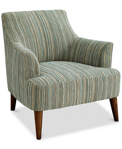 Lidia Fabric Accent Chair Created For Macy S Furniture