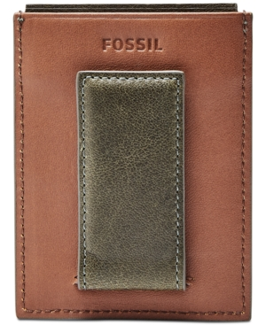 Fossil Men's Ethan Leather Rfid Money Clip