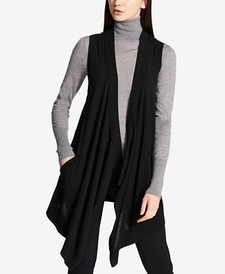 DKNY Long Waterfall Sweater Vest - Sweaters - Women - Macy's