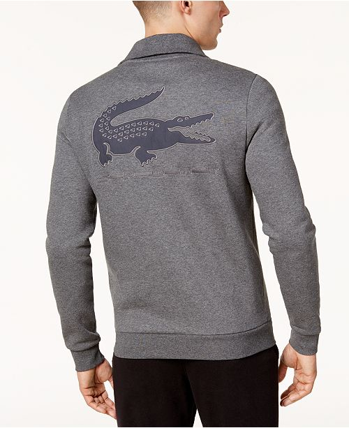 a6cd64ee57f2 Lacoste for Novak Djokovic Brushed Fleece Full Zip Pullover