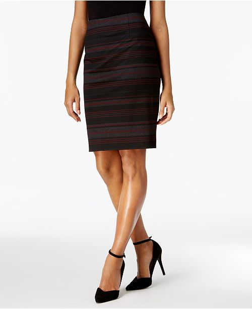 a18304579e Nine West Striped Pencil Skirt & Reviews - Skirts - Women - Macy's