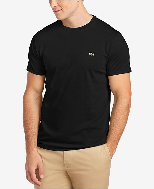 bfdf82a15845 Lacoste Men's Crew-Neck Pima Cotton T-Shirt & Reviews - T-Shirts ...