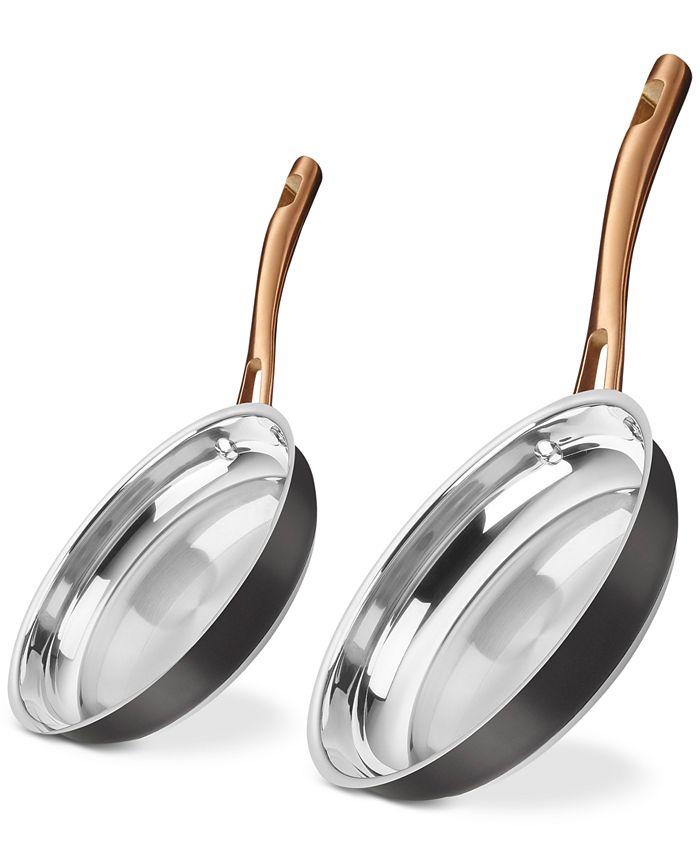 "Cuisinart - 9"" & 11"" Black & Gold Skillet Set"