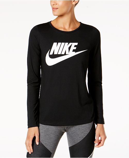 60435665 Nike Sportswear Essential Long-Sleeve Top & Reviews - Tops - Women ...