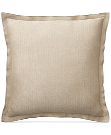 "Lauren Ralph Lauren Metallic Herringbone 20"" Square Decorative Pillow"