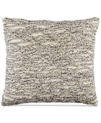 Cotton Tufted Chenille Stripe 20'' Square Decorative Pillow, Created for Macy's