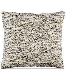 CLOSEOUT! Whim by Martha Stewart Collection Cotton Tufted Chenille Stripe 20'' Square Decorative Pillow, Created for Macy's