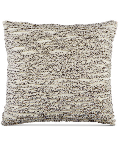 Whim by Martha Stewart Collection Cotton Tufted Chenille Stripe 20'' Square Decorative Pillow, Created for Macy's