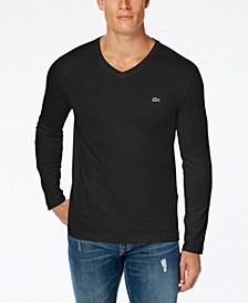 Men's V-Neck Long Sleeve Jersey T-Shirt