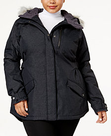 Columbia Plus Size Penns Creek™ Faux-Fur-Trimmed Jacket