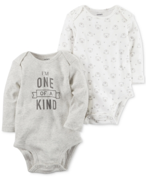 Carters 2Pk One of a Kind Cotton Bodysuits Baby Boys  Girls (024 months)