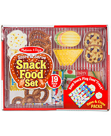 Melissa & Doug Store & Serve Snack Food Play Set