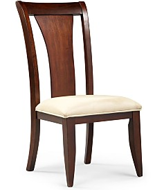 CLOSEOUT! Metropolitan Splat Back Side Chair, Created for Macy's