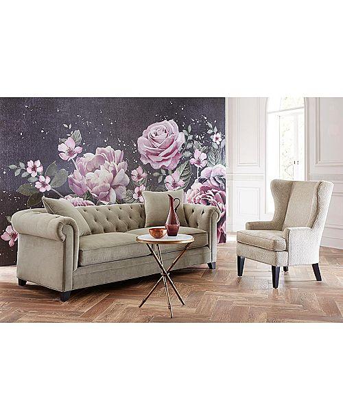 Pleasing Saybridge Printed Fabric Accent Wing Chair Customarchery Wood Chair Design Ideas Customarcherynet