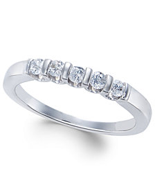 Diamond Five-Stone Band (1/4 ct. t.w.) in 14k White Gold