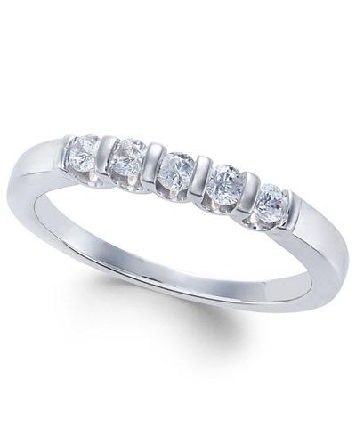 Diamond Five-Stone Band (1/4 ct. t.w.) in 14k White Gold