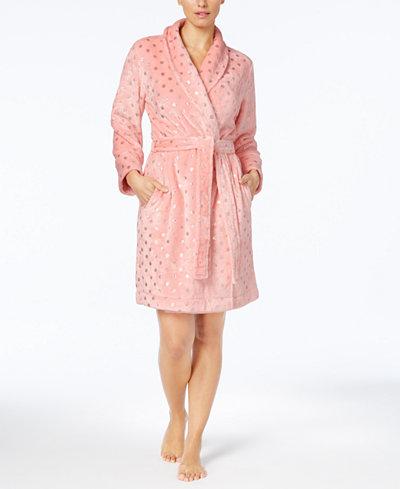 Charter Club Metallic-Print Robe, Created for Macy's