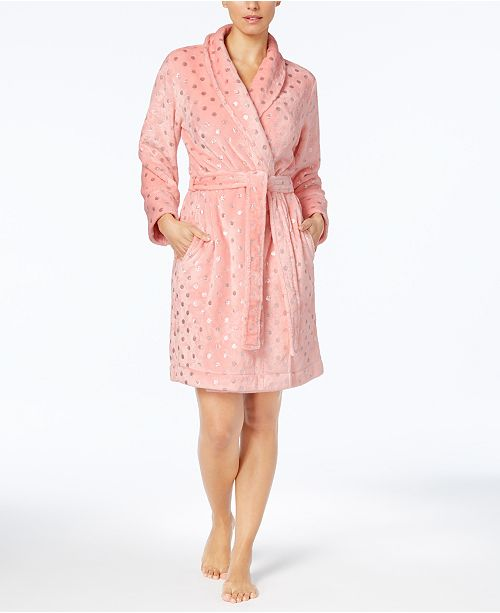 Charter Club Metallic-Print Robe, Created for Macy's