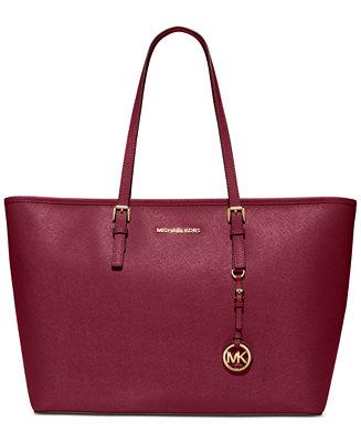 6ae9803ce5779 Michael Kors Jet Set Travel Top Zip Multifunction Tote   Reviews - Handbags    Accessories - Macy s