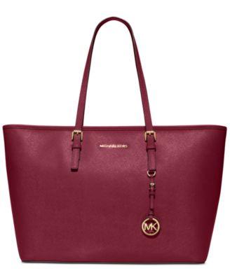 michael kors jet set travel top zip multifunction tote handbags rh macys com