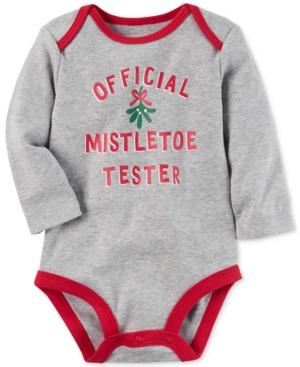 Carters Official Mistletoe Tester Cotton Bodysuit Baby Boys  Girls (024 months)