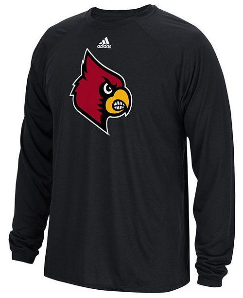 adidas Men's Louisville Cardinals Sideline Spine Long Sleeve T-Shirt
