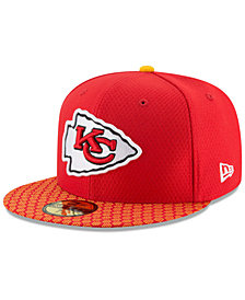 New Era Boys' Kansas City Chiefs Sideline 59FIFTY Fitted Cap
