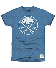 Retro Brand Men's Buffalo Sabres First Line Logo T-Shirt
