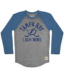 Retro Brand Men's Tampa Bay Lightning Reggie Raglan Long Sleeve T-Shirt