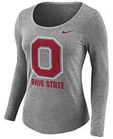 Nike Women's Ohio State Buckeyes Tri Blend Logo T-Shirt