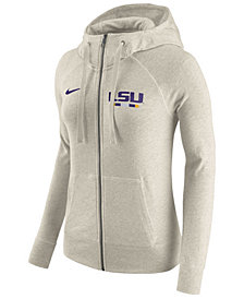 Nike Women's LSU Tigers Gym Vintage Full-Zip Hoodie