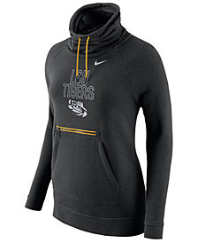 Nike Women's LSU Tigers Funnel Neck Hoodie