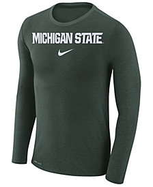 Nike Men's Michigan State Spartans Marled Long Sleeve T-Shirt