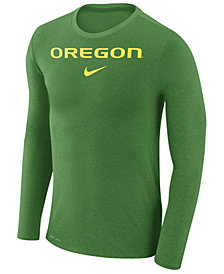 Nike Men's Oregon Ducks Marled Long Sleeve T-Shirt