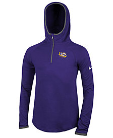 Nike LSU Tigers Element Logo Zip Hoodie,  Big Girls