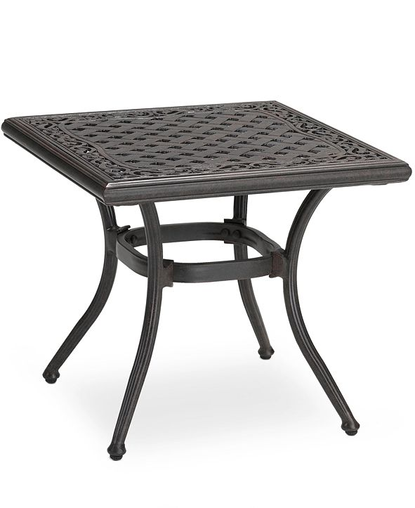 """Furniture Cast Aluminum 20"""" Square Outdoor End Table, Created for Macy's"""