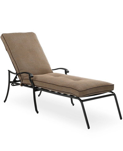 Grove hill cast aluminum outdoor chaise lounge furniture for Cast aluminum chaise lounge