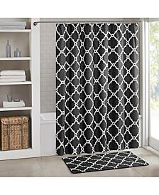 "Merritt Fretwork-Print 72"" Square Shower Curtain"