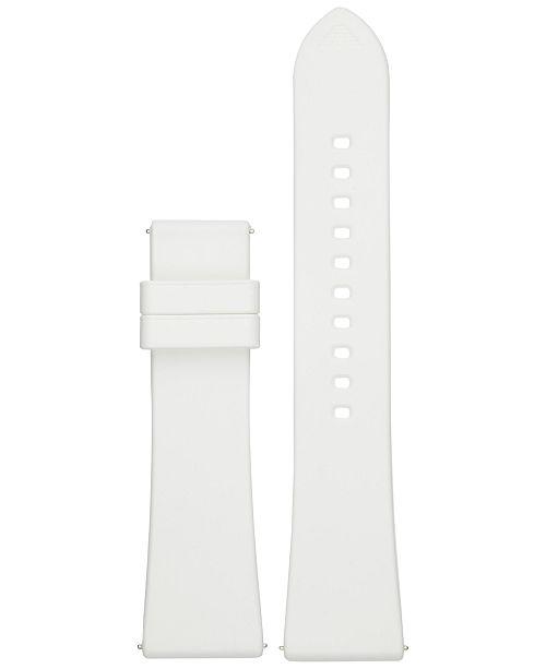 Emporio Armani Connected White Rubber Smart Watch Strap