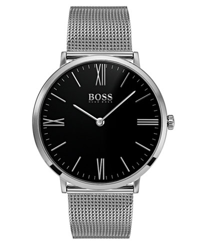 BOSS Hugo Boss Men's Jackson Stainless Steel Mesh Bracelet Watch 40mm