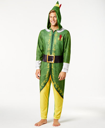 Briefly Stated Men's Buddy the Elf Costume Jumpsuit