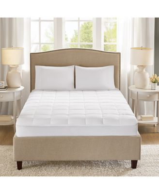 Quilted Copper-Infused Microfiber Down-Alternative Mattress Pad