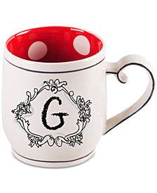 """Home Essentials Katie and Mandy Monogram """"G"""" Mug"""