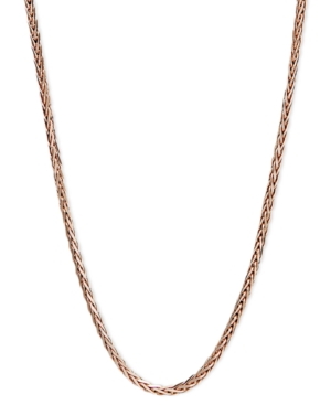 "14k Rose Gold Necklace, 20"" Wheat Chain"