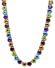 Peridot Necklace (30 ct. t.w.) in Sterling Silver (Also Available in Blue Topaz, Amethyst, Garnet & Multi-Stone)