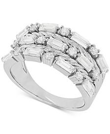 Swarovski Zirconia Multi-Row Statement Ring in Sterling Silver