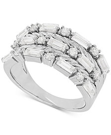 Swarovski Zirconia Multi-Row Statement Ring in Sterling Silver