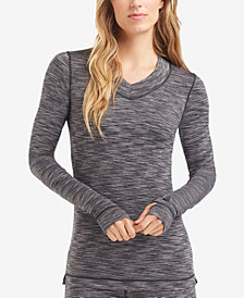 Cuddl Duds Women's  Flex Fit Long Sleeve V-neck