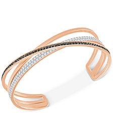 Swarovski Rose Gold-Tone Crisscross Crystal Cuff Bracelet