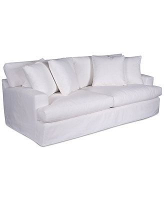 """Brenalee 93"""" Performance Fabric Slipcover Sofa by Macy's"""